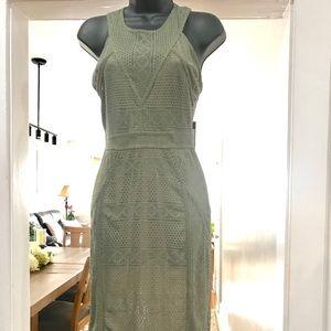 BCBGMAXAZRIA dustyolive form fitting dress sz XS